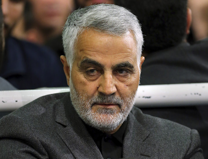 Quds Force General Qassem Soleimani, who was killed by an American drone attack. Although he looks pretty glum, everyone else around the world should be cheering . . . especially Israelis and Americans.