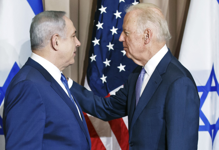 Long-time political friends, Prime Minister Benjamin Netanyahu and then Vice-President Joe Biden meet in Davos, Switzerland in 2016. The alliance between the U.S. and Israel is one of the world's strongest and most mutually beneficial. President-elect Biden has the opportunity to leverage that relationship toward even greater U.S. security.