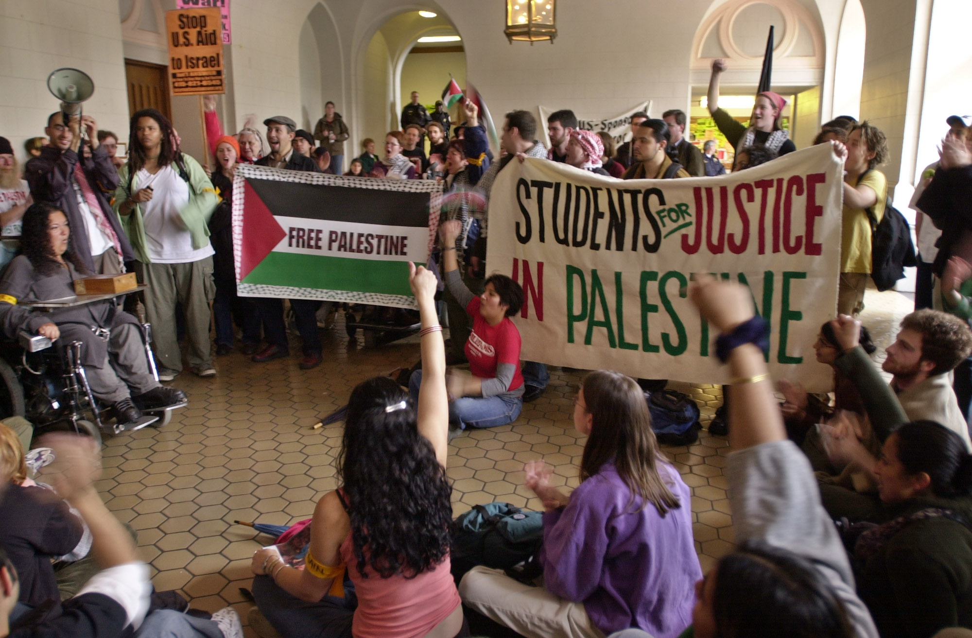 Anti-Semitic students at the University of California occupy a building where campus Jewish groups were holding a memorial service for Holocaust victims. Similar protests on campuses nationwide have created a virulently anti-Semitic atmosphere for young Jewish students.