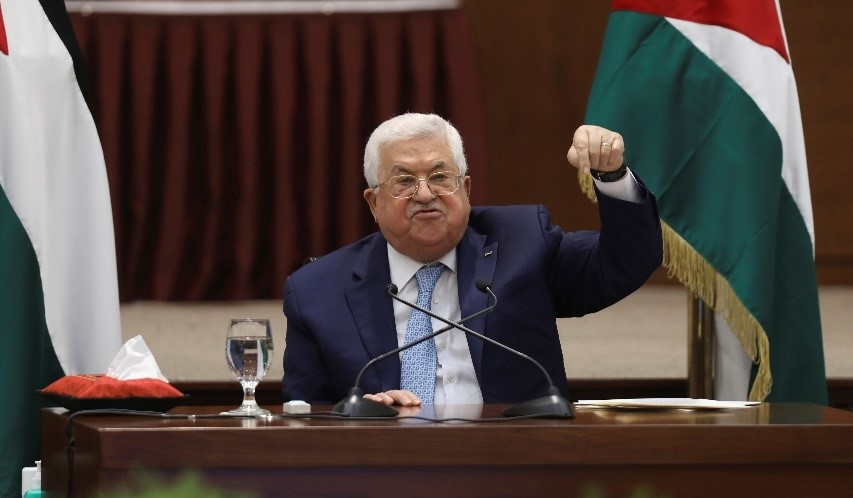 Mahmoud Abbas, 85-year-old Palestinian president, declared an end to all agreements with Israel, including security cooperation and Israel's forwarding of $600 million in taxes collected on behalf of the Palestinian Authority, both of which pose existential threats to the PA.