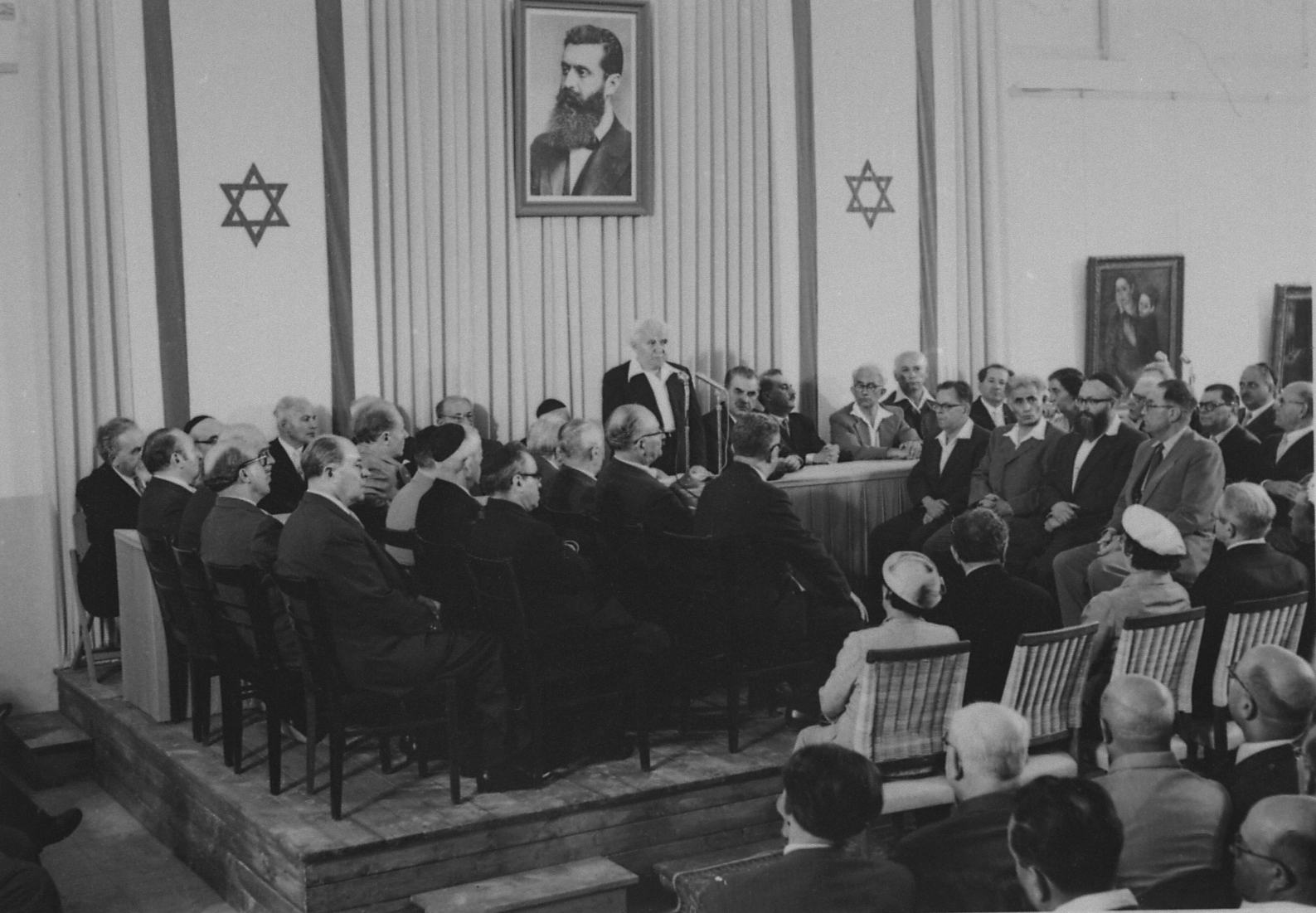 David Ben-Gurion proclaims Israel's independence on May 14, 1949