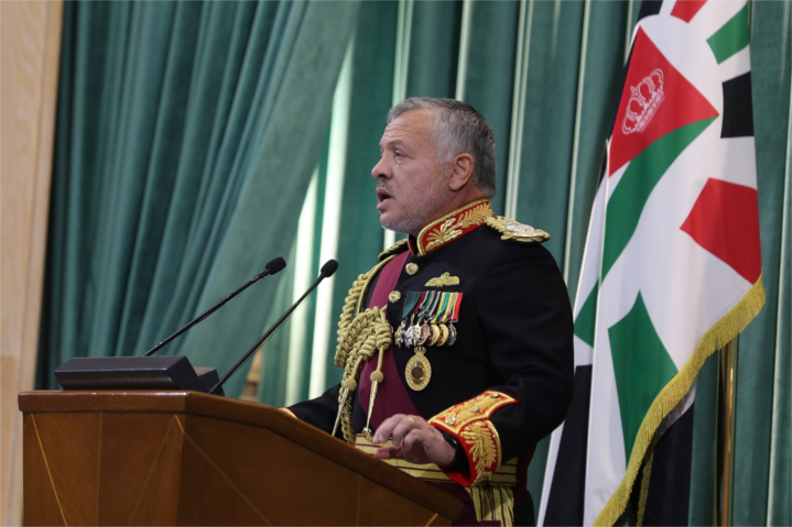 Jordan's King Abdullah announces that his Kingdom is asserting its full sovereignty over contested farms in the Jordan Valley. The move cancels a quarter-century-old leasing agreement with Israel.