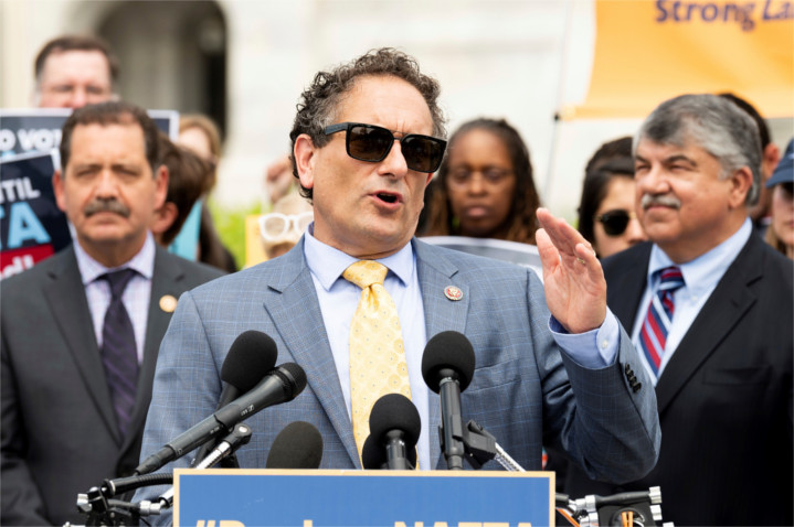 """U.S. Rep Andy Levin (D-MI) drafted a letter criticizing recent U.S. policies supporting Israel. The letter was signed by 107 leftist Democrat House members—including the """"Squad"""" of Reps. Tlaib, Omar, Ocasio-Cortez and Pressley—representing a substantial minority of the entire House and even a minority of Democrat House members."""