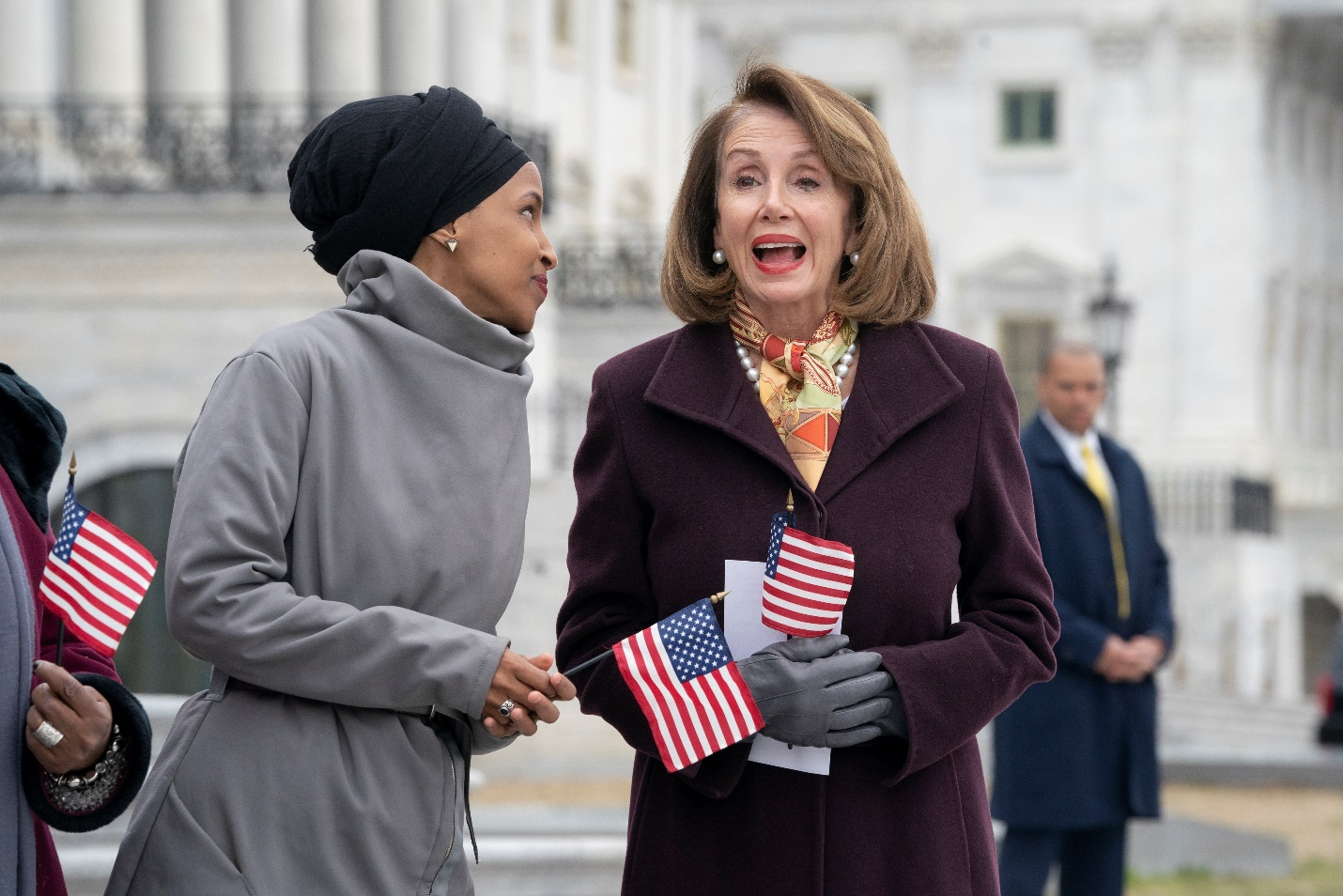 Photo of Ilhan Omar and Nancy Pelosi
