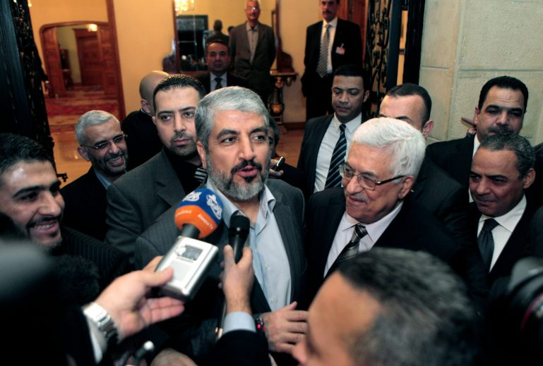 "When Hamas leader Khaled Mashal and Palestinian President Mahmoud Abbas met in 2012, the AP reported that ""there is a clear sense, in both . . . Fatah and its Islamist rival Hamas, of a national movement that is fragmented and in crisis."" The two rivals remain bitter enemies—unable to make peace with themselves, let alone Israel, despite countless attempts."